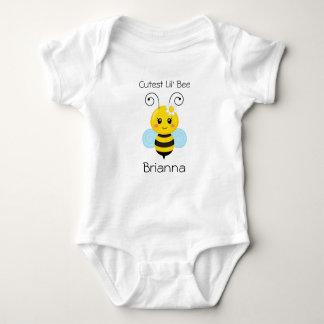 El mono más lindo del jersey del bebé de la abeja