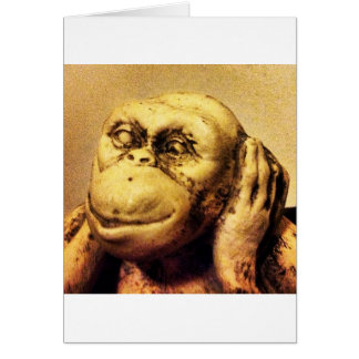 El mono sordo tarjeta de felicitación