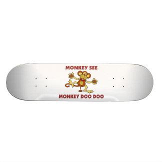 El mono ve el mono Doo Doo Patineta Personalizada
