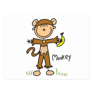 El mono viste para arriba las camisetas y los postal