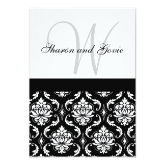 El monograma de encargo de la invitación del boda