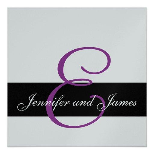 El monograma de la invitación de la bodas de plata