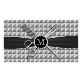 El monograma Estilista-Moderno del pelo Scissor y Tarjetas De Visita