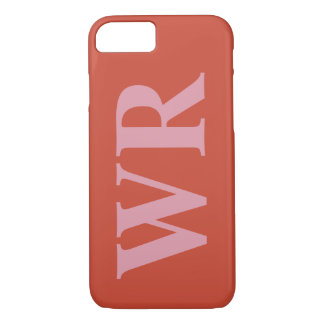 El monograma grande pone letras a estilo intrépido funda iPhone 7