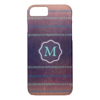El monograma texturizado colorido alinea el caso funda iPhone 7