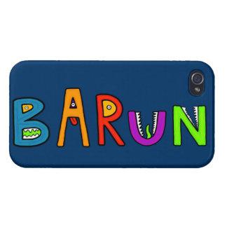 """El monstruo de """"Barun"""" pone letras a la cubierta d iPhone 4/4S Funda"""