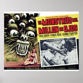 EL Monstruo Del millón de De Ojos Poster
