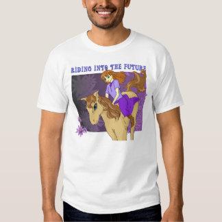 El montar en el futuro camisetas