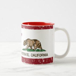 EL Monte de la bandera del Stat de California Taza De Dos Tonos