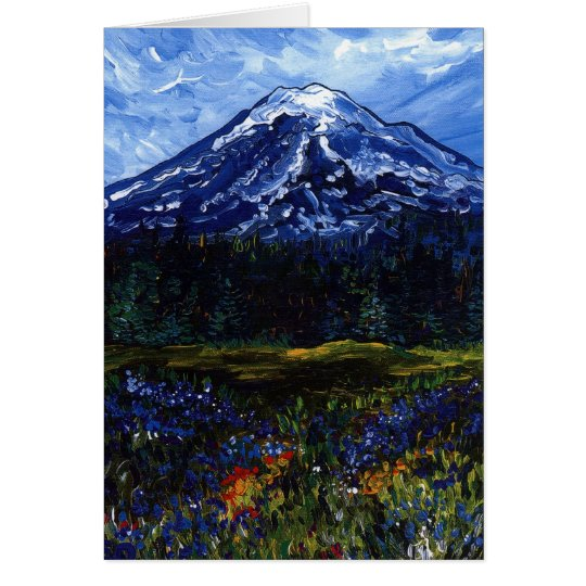 El Monte Rainier Tarjeta De Felicitación
