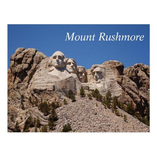 El monte Rushmore - postal