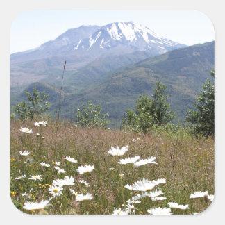 El Monte Saint Helens Pegatina Cuadrada