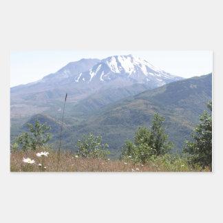 El Monte Saint Helens Pegatina Rectangular