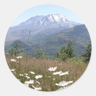 El Monte Saint Helens Pegatina Redonda