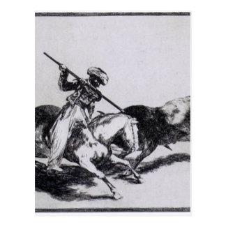 El Morisco Gazul es el primer para luchar toros Postal
