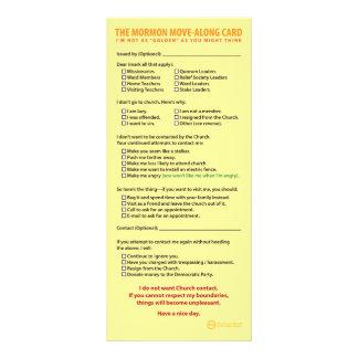 El mormón Movimiento-A lo largo de la tarjeta Tarjeta Publicitaria A Todo Color
