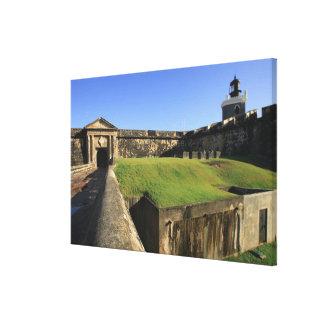 EL Morro, castillo de San Felipe, puente levadizo, Impresión En Lona