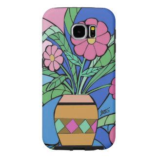 El mosaico Samsung de la flor llama por teléfono Funda Samsung Galaxy S6