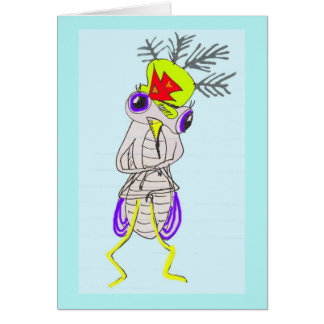 El mosquito demasiado gordo tarjeta de felicitación