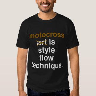 el motocrós es técnica del flujo del estilo camisetas