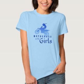 El motocrós está para los chicas camiseta