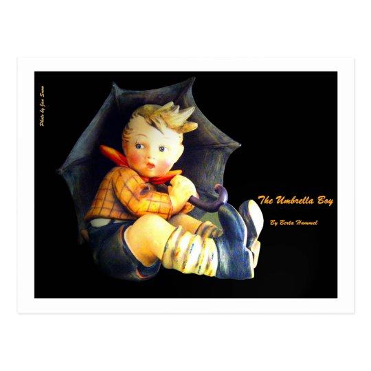El muchacho del paraguas postal