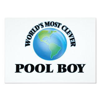 El muchacho más listo de la piscina del mundo invitación 12,7 x 17,8 cm