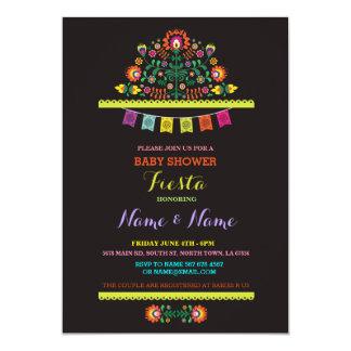 El muchacho mexicano del chica de la fiesta de invitación 12,7 x 17,8 cm