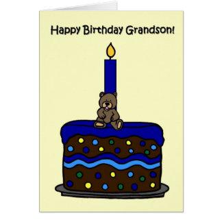 el muchacho refiere cumpleaños del nieto de la tarjeta de felicitación