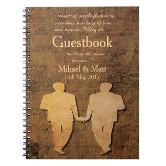El muchacho resuelve el Guestbook gay de Love Cuadernos