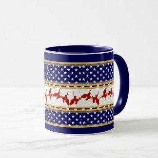 El mún americano rojo de Eagle protagoniza la taza