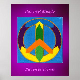 EL Mundo del en de Póster - de Paz Poster