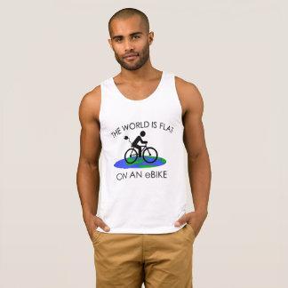 """""""El mundo es"""" camisetas sin mangas planas para los"""