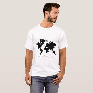 el mundo es el suyo camiseta del mapa