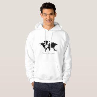 el mundo es el suyo sudadera con capucha del mapa
