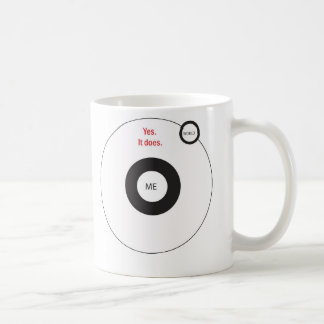 El mundo gira sí alrededor de mí taza de café