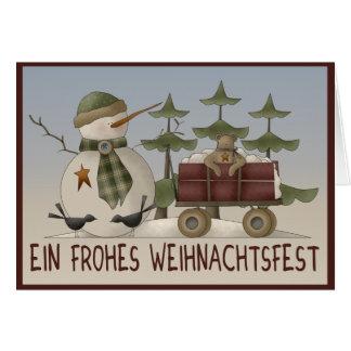 El muñeco de nieve navidad tarjeta de felicitación