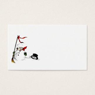 El muñeco de nieve pierde su sombrero de copa tarjeta de visita