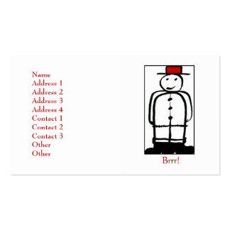 El muñeco de nieve tarjetas de visita