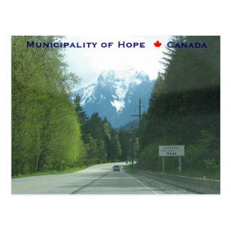 El municipio que entra de la esperanza Canadá Postal
