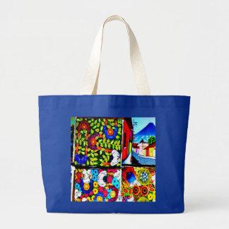 El mural maya del folclore recicla el bolso bolsa tela grande