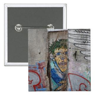 El muro de Berlín - Alemania Chapa Cuadrada