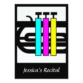 El músico musical cierra invitaciones de las invitación 12,7 x 17,8 cm