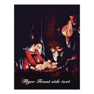 El nacimiento de Cristo, nacimiento de Jesús. Pint Tarjetón