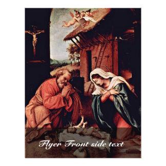 El nacimiento de Cristo por la loteria Lorenzo (la Folleto 21,6 X 28 Cm