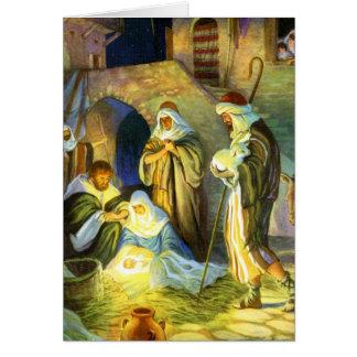 El nacimiento de la tarjeta de Navidad de Jesús