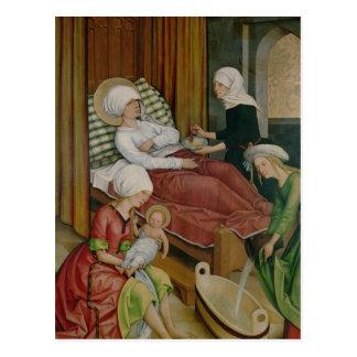 El nacimiento de la Virgen, c.1500 Postal