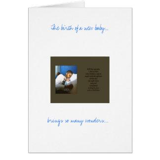 El nacimiento de un nuevo bebé… ,… tarjeta de felicitación