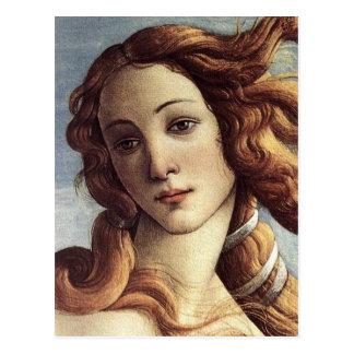 El nacimiento de Venus (detalle) Postal