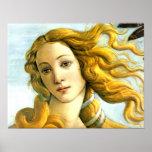 El nacimiento de Venus - detalle Posters